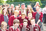 REFURBISHMENT: Jackie Healy Rae meets the pupils at the official opening of the new refurbishment in Fossa NS on Friday. Copyright Kerry's Eye 2008