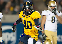 October 6th, 2012: California's Chris McCain celebrates after bringing down UCLA's Johnathan Franklin during a game at Memorial Stadium, Berkeley, Ca    California defeated UCLA 43 - 17