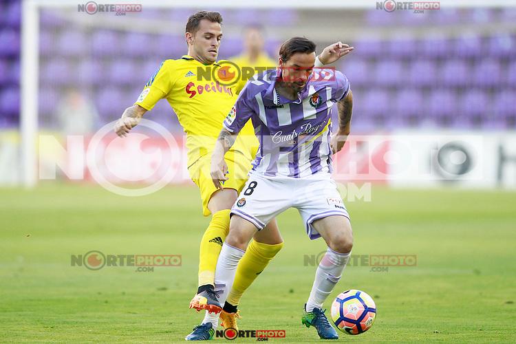 Real Valladolid's Andre Leao (r) and Cadiz CF's Jesus Imaz during La Liga Second Division match. June 10,2017. (ALTERPHOTOS/Acero) (NortePhoto.com) (NortePhoto.com)