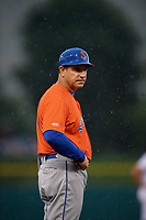 Syracuse Mets manager Tony DeFrancesco (11) during an International League game against the Indianapolis Indians on July 16, 2019 at Victory Field in Indianapolis, Indiana.  Syracuse defeated Indianapolis 5-2  (Mike Janes/Four Seam Images)