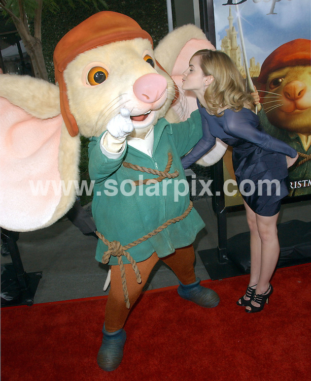 "**ALL ROUND PICTURES FROM SOLARPIX.COM**.**SYNDICATION RIGHTS FOR UK, SPAIN, PORTUGAL, AUSTRALIA, S.AFRICA & DUBAI (U.A.E) ONLY**.arrivals for ""The Tale Of Despereaux"" World Premiere. Held at the ArcLight Theatre, Hollywood, California. USA. 07 December 2008..This pic: Emma Watson..JOB REF:  8104 PHZ (Ortega)   DATE: 07_12_2008.**MUST CREDIT SOLARPIX.COM OR DOUBLE FEE WILL BE CHARGED* *UNDER NO CIRCUMSTANCES IS THIS IMAGE TO BE REPRODUCED FOR ANY ONLINE EDITION WITHOUT PRIOR PERMISSION*"