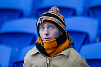 A Wolves fan looks thoughtful ahead of the Sky Bet Championship match between Cardiff City and Wolverhampton Wanderers at the Cardiff City Stadium, Cardiff, Wales on 6 April 2018. Photo by Mark  Hawkins / PRiME Media Images.