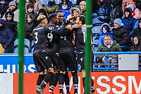 Crystal Palace celebrate going 2- 0 up during the EPL - Premier League match between Huddersfield Town and Crystal Palace at the John Smith's Stadium, Huddersfield, England on 17 March 2018. Photo by Stephen Buckley / PRiME Media Images.