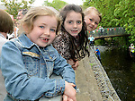 Molly Flood, Alanah Callan and Lara King pictured at the Duck Derby in Dunleer. Photo:Colin Bell/pressphotos.ie