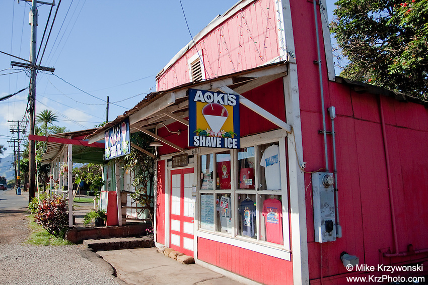 Historic Aoki's Shave Ice Building(now demolished), Haleiwa, Oahu, Hawaii