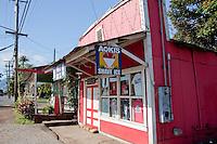Historic Aoki's Shave Ice Building(now demolished), Haleiwa, Oahu, Hawaii