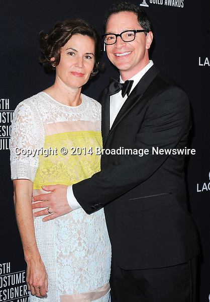 Pictured: Joshua Molina, wife Melissa<br /> Mandatory Credit &copy; Adhemar Sburlati/Broadimage<br /> The 16th Costume Designers Guild Awards<br /> <br /> 2/22/14, Los Angeles, California, United States of America<br /> <br /> Broadimage Newswire<br /> Los Angeles 1+  (310) 301-1027<br /> New York      1+  (646) 827-9134<br /> sales@broadimage.com<br /> http://www.broadimage.com