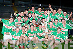 Legion minors celebrate after defeating Dr Crokes in the club championship final in Killarney last Wednesday evening