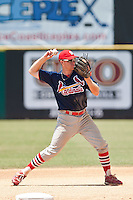 Trevor Martin of the Gulf Coast League Cardinals during the game at Space Coast Stadium in Viera, Florida July 11 2010.  Photo By Scott Jontes/Four Seam Images