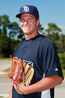 Tampa Bay Rays minor league pitcher Jacob Thompson during an Instructional League game vs. the Minnesota Twins at Charlotte Sports Park in Port Charlotte, Florida;  October 5, 2010.  Photo By Mike Janes/Four Seam Images