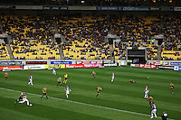 A general view of the match during the A-League football match between Wellington Phoenix and Perth Glory at Westpac Stadium, Wellington, New Zealand on Sunday, 16 August 2009. Photo: Dave Lintott / lintottphoto.co.nz