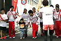 September 30, 2017, Tokyo, Japan - Special Olympics Nippon Foundation president Yuko Arimori (R) waits the last runner at a charity run for the Special Olympics at Toyota's showroom Mega Web in Tokyo on Saturday, September 30, 2017. Some 1,800 people participated the charity event as Japan's Special Olympic Games will be held in Aichi in 2018.   (Photo by Yoshio Tsunoda/AFLO) LWX -ytd-