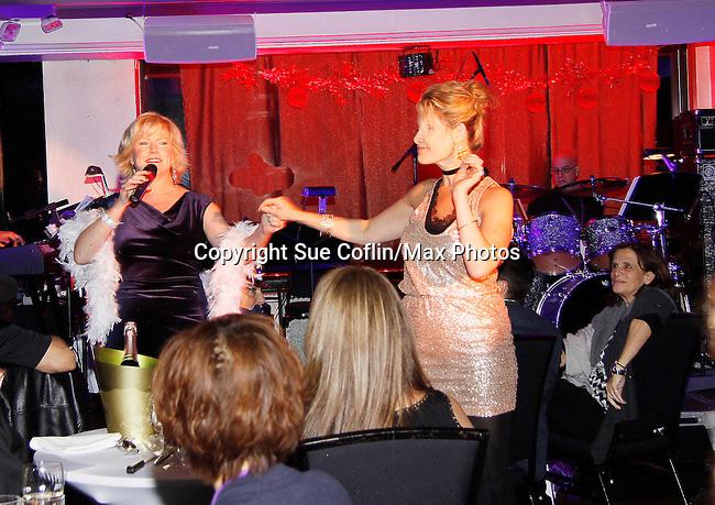 Singers Missy Keene & Jodi Stevens perform at New Year's Eve 2016 at The Copacabana, New York City, New York. (Photo by Sue Coflin/Max Photos)  suemax13@optonline.net