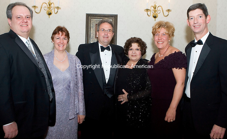 PLANTSVILLE, CT- 03 FEB 07- 020307JT17- <br /> Dennis and Eileen Cleary with Dr. Henry Borkowski and wife Antoinette Maria, and Mary and Bob Ritz at the Saint Mary's Hospital Foundation 16th Annual Gala, this year titled &quot;The Snowflake Ball,&quot; at the Aqua Turf in Plantsville on Saturday evening.<br /> Josalee Thrift Republican-American