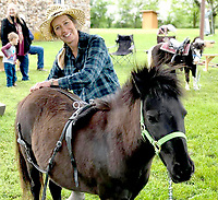Courtesy photo<br /> Laura James enjoys showing her miniature horses at the New Bethel Heritage Festival near Anderson.