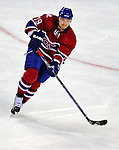 4 December 2008: Montreal Canadiens' defenseman Andrei Markov from Russia in action against the New York Rangers at the Bell Centre in Montreal, Quebec, Canada. The Canadiens, celebrating their 100th season, played in the circa 1915-1916 uniforms for the evenings' Original Six matchup. The Canadiens defeated the Rangers 6-2. *****Editorial Use Only*****..Mandatory Photo Credit: Ed Wolfstein Photo