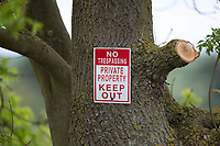 Private property sign<br /> ©Tim Scrivener Photographer 07850 303986<br />      ....Covering Agriculture In The UK....
