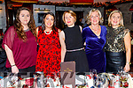 The staff of the Education Centre Tralee enjoying their Christmas party in the Grand Hotel on Friday.<br /> L to r: Stacey Dineen Higgins, Carol Crean, Linda O'Brien, Kay Dowling and Jackie Murphy.