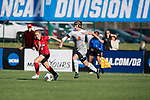 KANSAS CITY, MO - DECEMBER 02: Holly Talbut-Smith (2) of Carson-Newman University dribbles past Emily Griffin (8) of the University of Central Missouri during the Division II Women's Soccer Championship held at the Swope Soccer Village on December 2, 2017 in Kansas City, Missouri. (Photo by Doug Stroud/NCAA Photos/NCAA Photos via Getty Images)