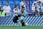 Alphonse Areola of Real Madrid during La Liga match between Real Madrid and Granada CF at Santiago Bernabeu Stadium in Madrid, Spain. October 05, 2019. (ALTERPHOTOS/A. Perez Meca)