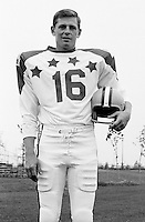 John Wydareny 1970 Canadian Football League Allstar team. Copyright photograph Ted Grant