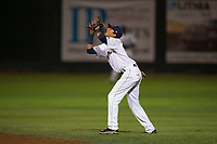 Helena Brewers second baseman Luis Avila (13) prepares to catch a pop fly during a Pioneer League game against the Orem Owlz at Kindrick Legion Field on August 21, 2018 in Helena, Montana. The Orem Owlz defeated the Helena Brewers by a score of 6-0. (Zachary Lucy/Four Seam Images)