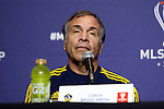05 December 2014: Los Angeles Galaxy head coach Bruce Arena. Major League Soccer held a press conference at the StubHub Center in Carson, California two days before the Los Angeles Galaxy hosted the New England Revolution in MLS Cup 2014.
