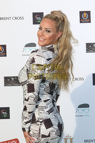 Danielle Mason at the first ever UK Drive-In Film Premiere of 'Break' at Brent Cross in London. This is the first Red Carpet event in the UK since the Covid-19 Pandemic lockdown. The film will be rolled out nationwide in other drive-in venues. Brent Cross, London 22nd July 2020<br /> CAP/ROS<br /> ©ROS/Capital Pictures