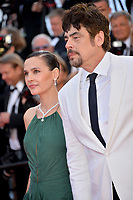 Virginie Ledoyen &amp; Benicio Del Toro  at the closing gala screening for &quot;The Man Who Killed Don Quixote&quot; at the 71st Festival de Cannes, Cannes, France 19 May 2018<br /> Picture: Paul Smith/Featureflash/SilverHub 0208 004 5359 sales@silverhubmedia.com