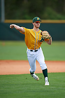 North Dakota State Bison infielder Tyler Hillman (8) during warmups before a game against the Central Connecticut State Blue Devils on February 23, 2018 at North Charlotte Regional Park in Port Charlotte, Florida.  North Dakota State defeated Connecticut State 2-0.  (Mike Janes/Four Seam Images)