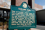 A Oaklawn Park landmark sign in front of Oaklawn Race track in Hot Springs, AR. Jan.21, 2013 - Hot Springs, Arkansas, U.S -   (Credit Image: © Justin Manning/Eclipse/ZUMAPRESS.com)
