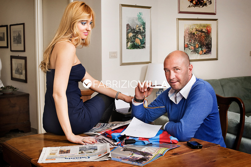 Walter Zenga a con la  moglie Raluca Rebedea. Foto Fabrizio Villa