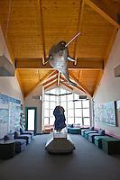 Nattinak Visitors Centre in Pond Inlet on northern Baffin Island, Nunavut, Canada.