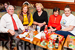 A Quiz was held last Friday night in the Ploughman Bar Abbeyfeale  to raise funds for Recovery Haven Tralee. The event was organised by Nora Moore from Abbeyfeale  who is a volunteer at Recovery Haven. <br /> Volunteers attending the Quiz L-R Dermot Crowley (Tralee)<br /> Marian Barnes(Tralee), Mary McGill (Abbeyfeale), Nora Moore (Abbeyfeale) Marisa Reidy (Abbeydorney).