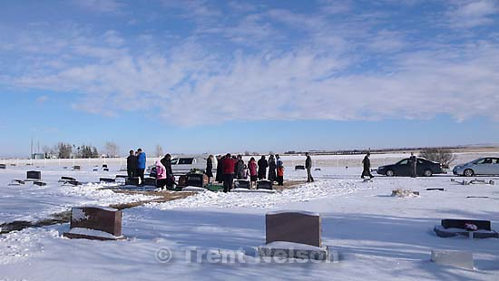 Magrath - Burial of Allie Robinson; 1.18.2008