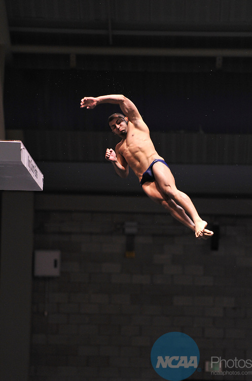 24 MAR 2012:  Ben Grado of the University of Arizona competes in the platform diving competition during the Division I Men's Swimming and Diving Championship held at the Weyerhaeuser King County Aquatic Center in Seattle, WA. Grado won the event and was also named Diver of the Meet.  Rod Mar/ NCAA Photos