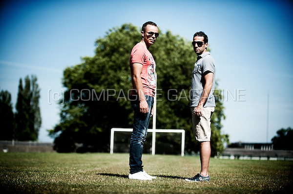 Belgian football managers Yannick Ferrera and Mohammed Ouahbi (Belgium, 06/08/2015)