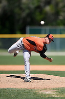 Baltimore Orioles David Hess (31) during a minor league spring training game against the Tampa Bay Rays on April 3, 2015 at the Buck O'Neil Complex in Sarasota, Florida.  (Mike Janes/Four Seam Images)
