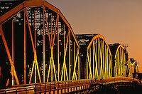 Sunrise light on Broadway Bridge, Portland, Oregon