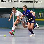 MHC Julia Meffert gegen TSV Laura Keibel beim Spiel der Hockey Bundesliga Damen, TSV Mannheim (hell) - Mannheimer HC (dunkel).<br /> <br /> Foto © PIX-Sportfotos *** Foto ist honorarpflichtig! *** Auf Anfrage in hoeherer Qualitaet/Aufloesung. Belegexemplar erbeten. Veroeffentlichung ausschliesslich fuer journalistisch-publizistische Zwecke. For editorial use only.