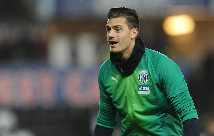 West Bromwich Albion's Jonathan Bond during the pre-match warm-up <br /> <br /> Photographer Kevin Barnes/CameraSport<br /> <br /> The EFL Sky Bet Championship - Swansea City v West Bromwich Albion - Wednesday 28th November 2018 - Liberty Stadium - Swansea<br /> <br /> World Copyright &copy; 2018 CameraSport. All rights reserved. 43 Linden Ave. Countesthorpe. Leicester. England. LE8 5PG - Tel: +44 (0) 116 277 4147 - admin@camerasport.com - www.camerasport.com