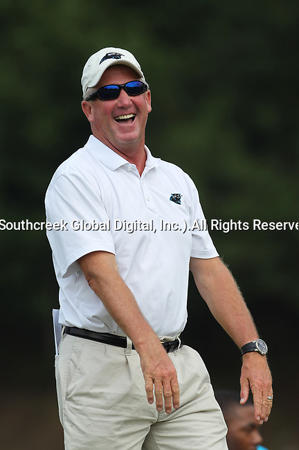 30July2010: Carolina Panther head coach John Fox. The Panthers held an afternoon training camp session at Wofford College in Spartanburg, South Carolina.