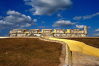 Fuerte San Jose el Alto, a restored Spanish Colonial fort near the city of Campeche, Mexico