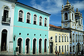 Salvador, Bahia State, Brazil; colonial buildings in Pelourinho; UNESCO World Heritage site.