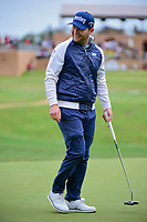 Brandon Grace (RSA) backs off his par putt on 16 for a moment before sinking it during round 3 of the Valero Texas Open, AT&amp;T Oaks Course, TPC San Antonio, San Antonio, Texas, USA. 4/22/2017.<br /> Picture: Golffile | Ken Murray<br /> <br /> <br /> All photo usage must carry mandatory copyright credit (&copy; Golffile | Ken Murray)