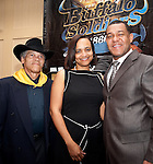 Wayne DeHart with Charlene Johnson and Jarvis Johnson.