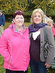 Liz McKeown and Rosaleen McCarthy at the end of the walk for Jill Meagher in Dominic's park. Photo:Colin Bell/pressphotos.ie