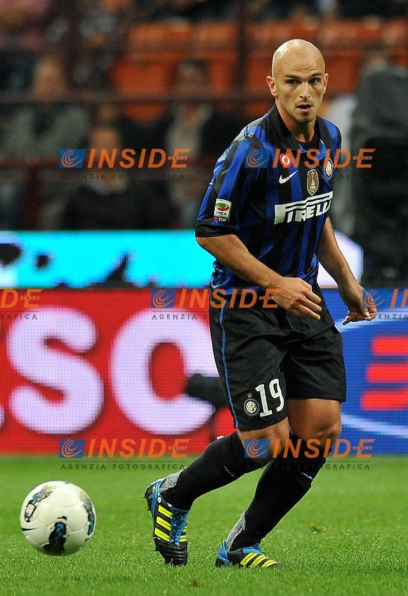 "Etseban CAMBIASSO (Inter).Milano 17/9/2011 Stadio ""Giuseppe Meazza"".Serie A 2011/2012 .Football Calcio Inter Vs Roma.Foto Insidefoto Alessandro Sabattini."
