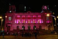 RIO DE JANEIRO, RJ, 01.10.2014, OS MONUMENTOS DO RIO FICAM ROSA EM CELEBRAÇÃO AO OUTUBRO ROSA, OUTUBRO ROSA NO RIO,Assembléia Legislativa do Rio de Janeiro fica com iluminação Rosa em celebração ao Outubro Rosa  ,  no Rio de Janeiro,  nesta quarta-feira, 01 (foto: Márcio Cassol/Brazil Photo Press)