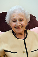 2017 03 05 Marjorie Ovens celebrates 100th birthday in care home, Newport, UK